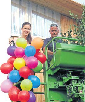 Carolin Töpel und Polier Sven Richter