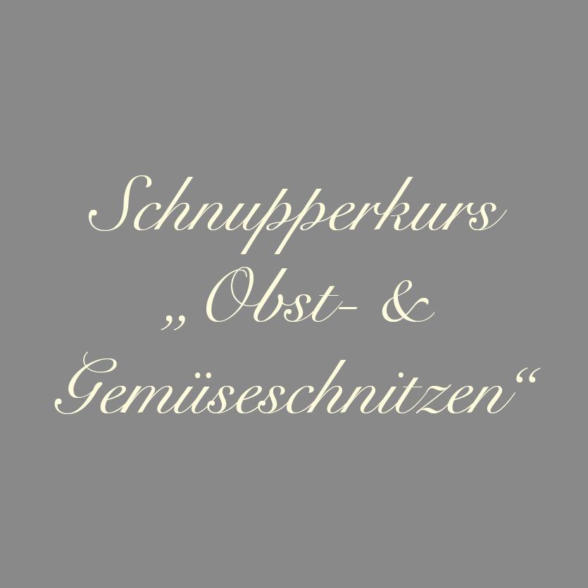 Schnupperkurs im Obst- und Gemüseschnitzen im Gräfenbrücker Eventhof